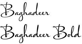 Baghadeer font