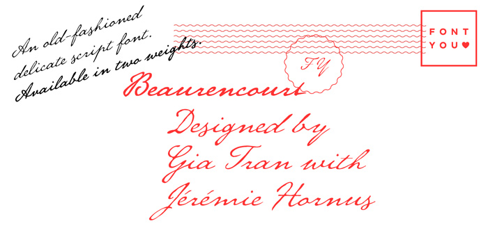 Beaurencourt FY font by Fontyou