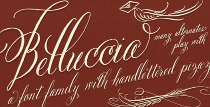 Belluccia - One of the Best Font for Wedding Invitations