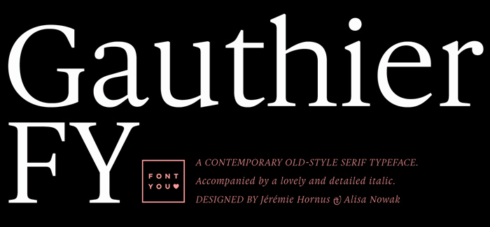 Gauthier FY font