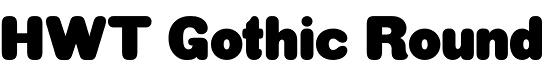 HWT Gothic Round font