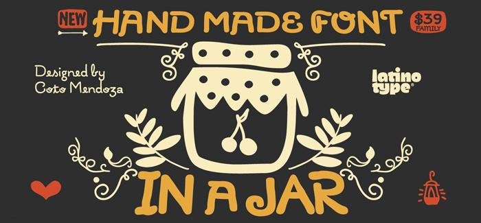 In a Jar font