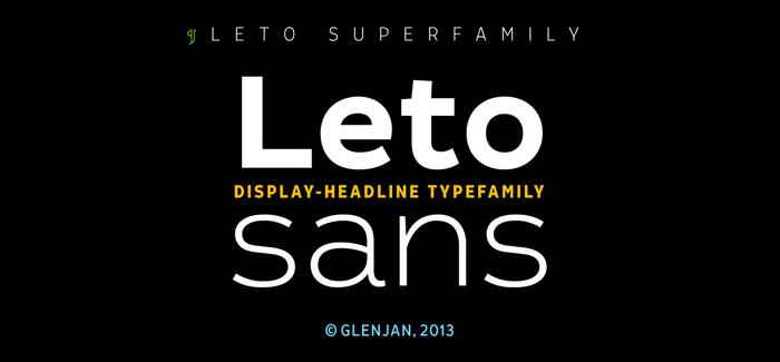 Leto Sans font