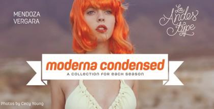 Moderna Condensed font by Mendoza Vergara