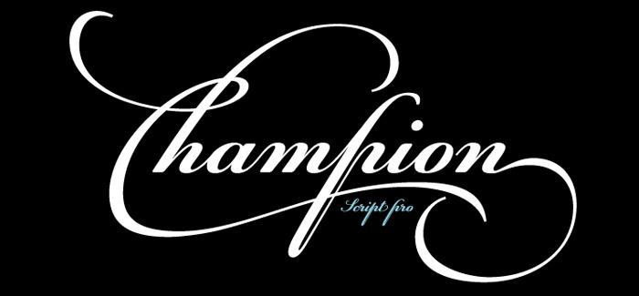 PF Champion Script Pro font