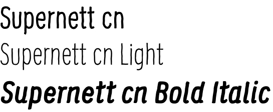 Supernett font by FaceType