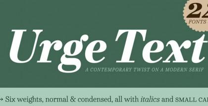 Urge Text font