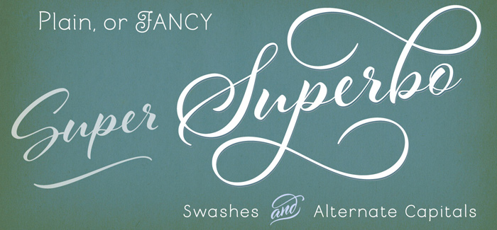 Al Fresco font, Swashes, Alternate Capitals