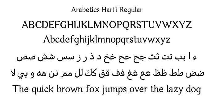 Arabetics Harfi font arabic