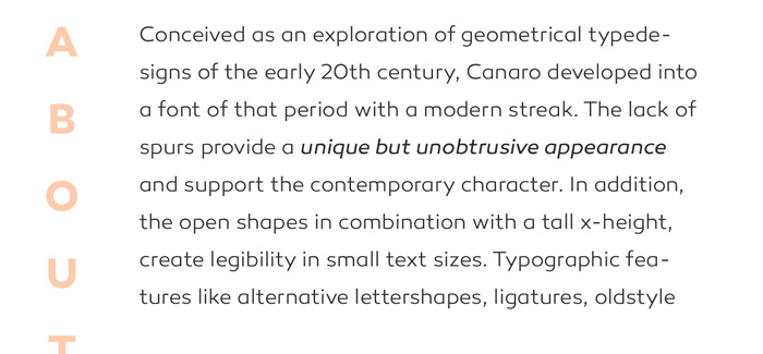 Canaro font by Rene Bieder