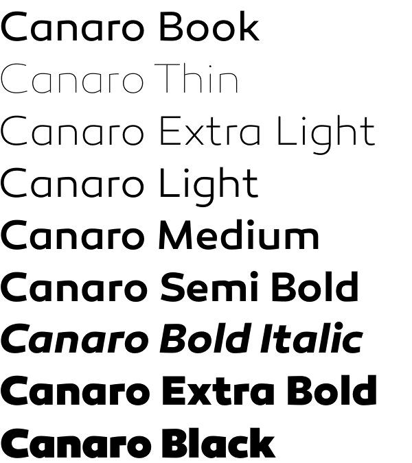 Canaro font