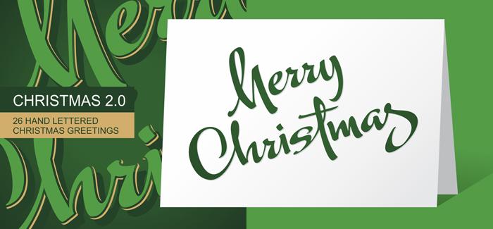 Christmas font v2