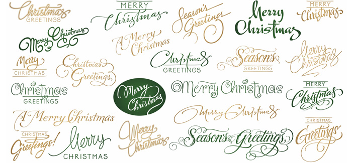 Christmas font by the Fontmaker