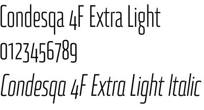 Condesqa 4F font