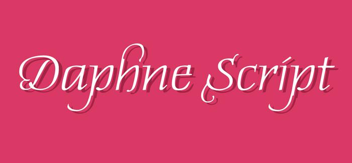 Daphne Script font