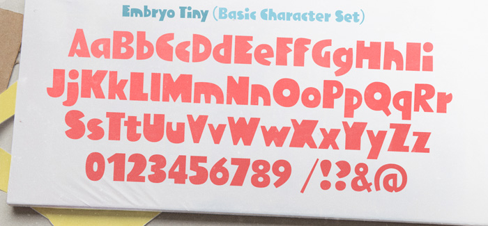 Embryo Tiny font by HVD Fonts