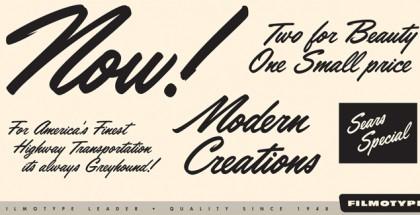 Filmotype Leader font