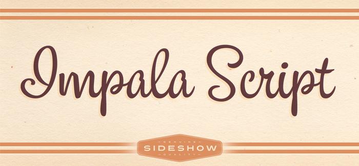 Impala Script font