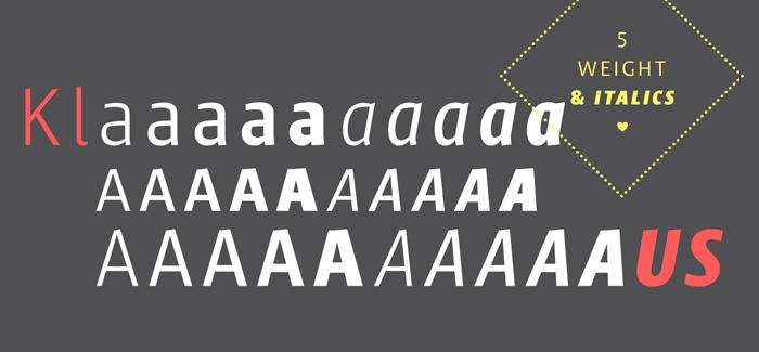 Klaus FY font, Fontyou
