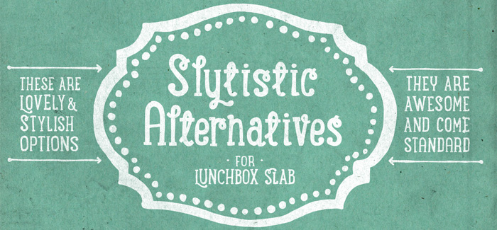 Lunchbox Slab font by Kimmy Design