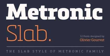 Metronic Slab Pro font