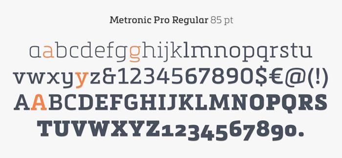 Metronic Slab Pro font by Mostardesign