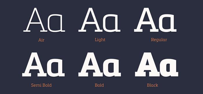 Metronic Slab Pro font by Olivier Gourvat