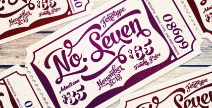 No Seven font collection