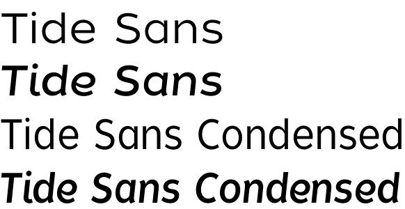 Tide Sans font