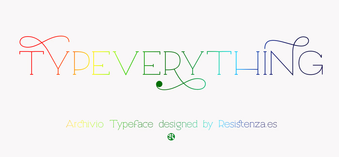Archivio font by Resistenza