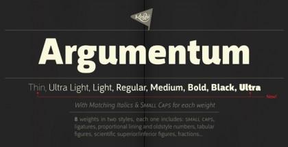 Argumentum font