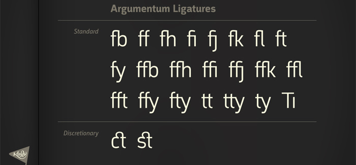Argumentum font by Kostic Type