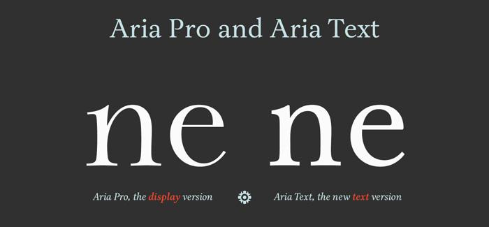 Aria Text font by Rui Abreu