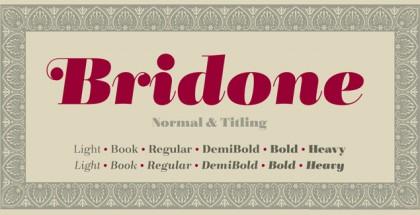 Bridone font