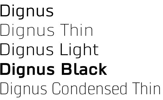 Dignus font
