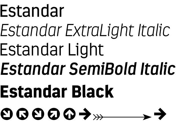 Estandar font