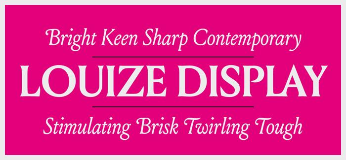 Louize font by Nonpareille