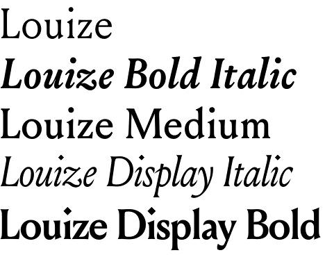 Louize font