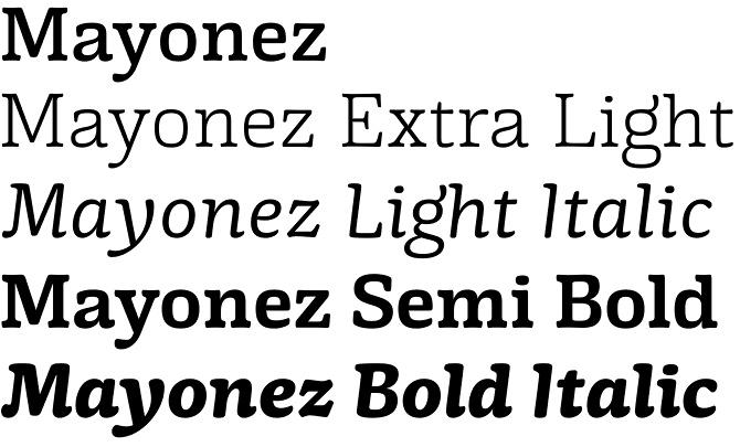 Mayonez font