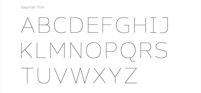 Nauman font