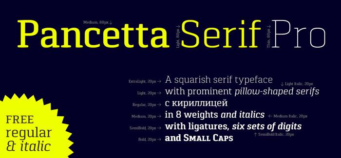 Pancetta Serif Pro font