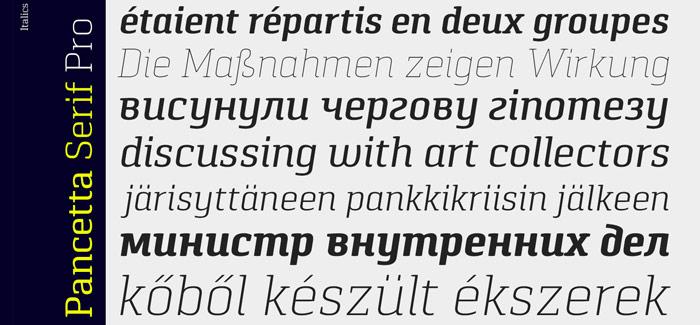 Pancetta Serif Pro font by Mint Type
