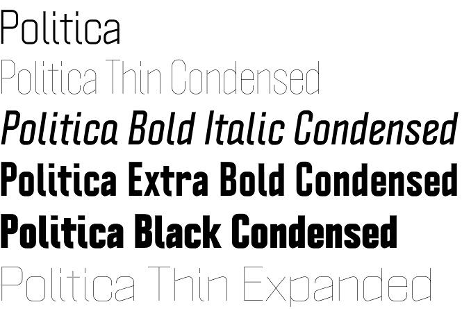 Politica font