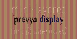 Prevya Display font