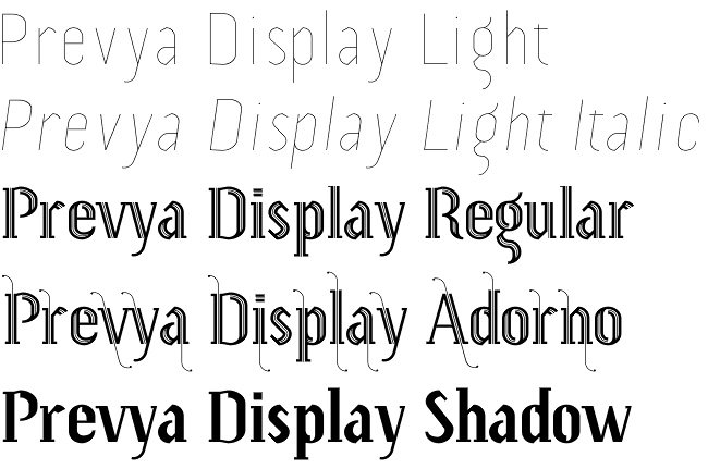 Prevya Display font