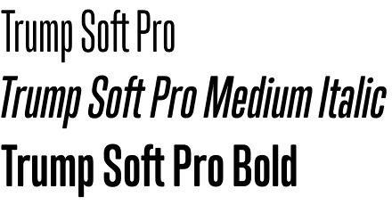 Trump Soft Pro font
