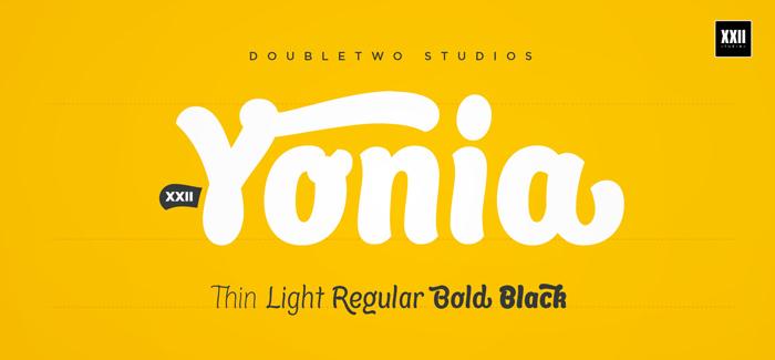 Yonia font