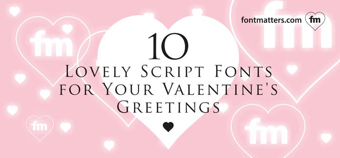10 lovely script fonts