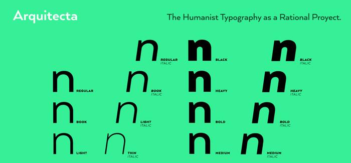 LatinoType's Arquitecta font