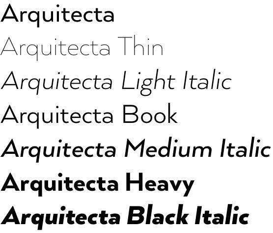 Arquitecta font
